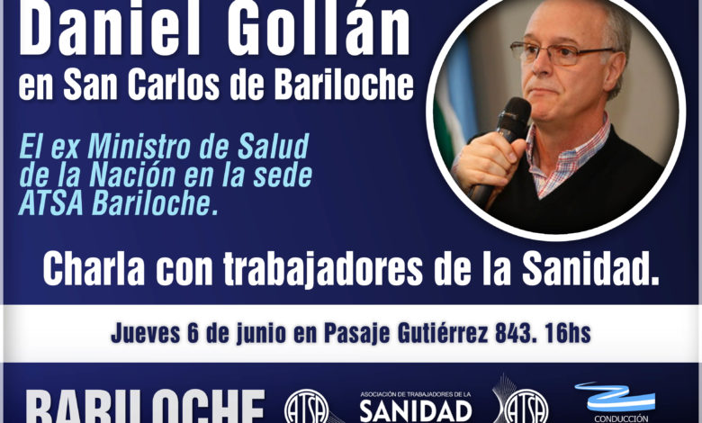 Photo of Bariloche: Daniel Gollán en ATSA