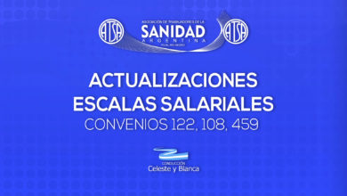 Photo of Actualización de escalas salariales  convenios 122, 108, 459, 107, 42 – 2020