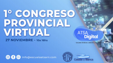 Photo of 1° CONGRESO PROVINCIAL VIRTUAL ATSA Rio Negro